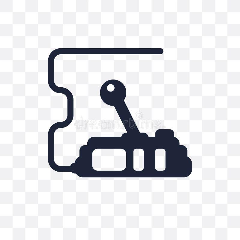 Steuert transparente Ikone Kontrollensymbolentwurf vom Säulengang Co stock abbildung