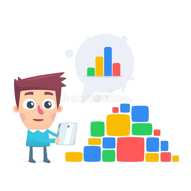 Steuerung über den Daten stock abbildung