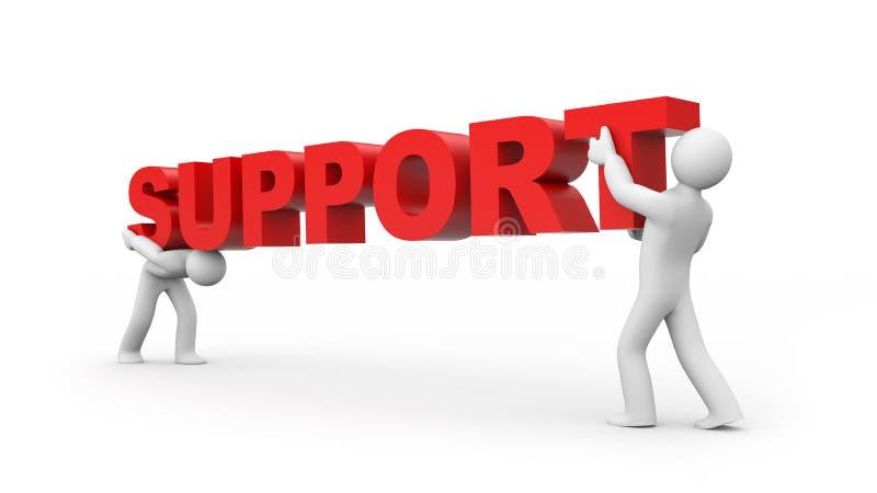 Steun vector illustratie