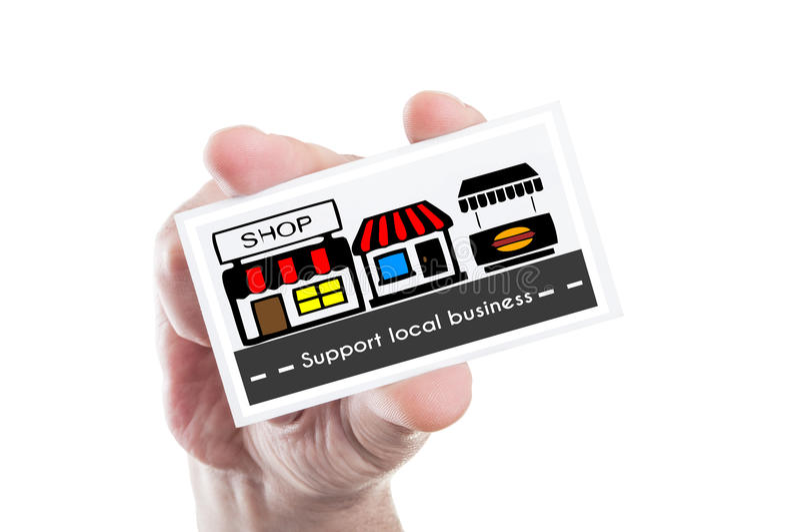 Steun lokaal bedrijfsconcept stock afbeeldingen