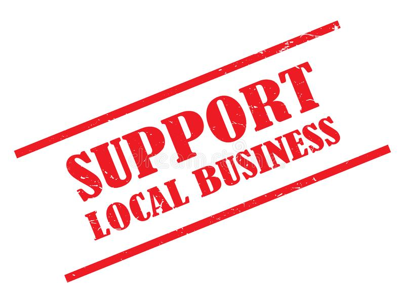 Steun lokale bedrijfszegel stock fotografie