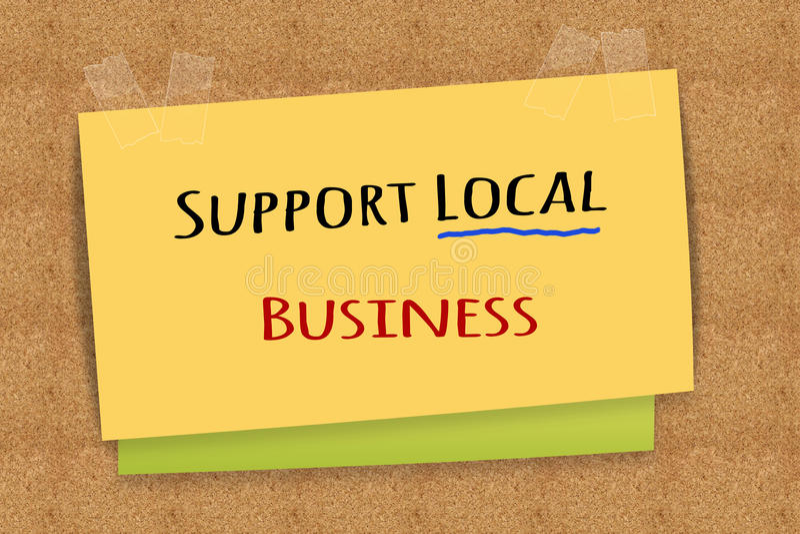 Steun lokale zaken stock foto's