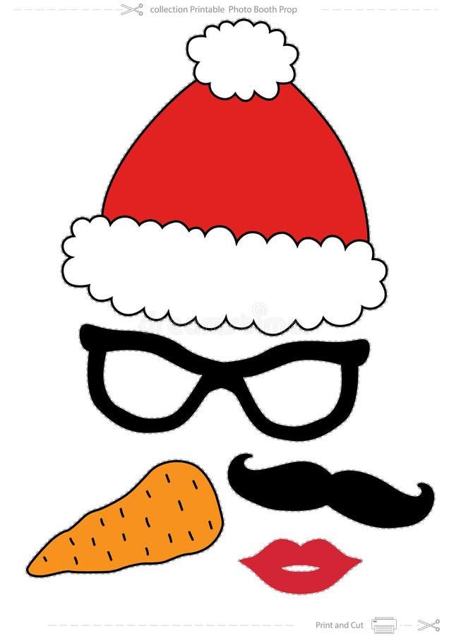Steun van de de Fotocabine van de Kerstmisinzameling de Voor het drukken geschikte stock illustratie