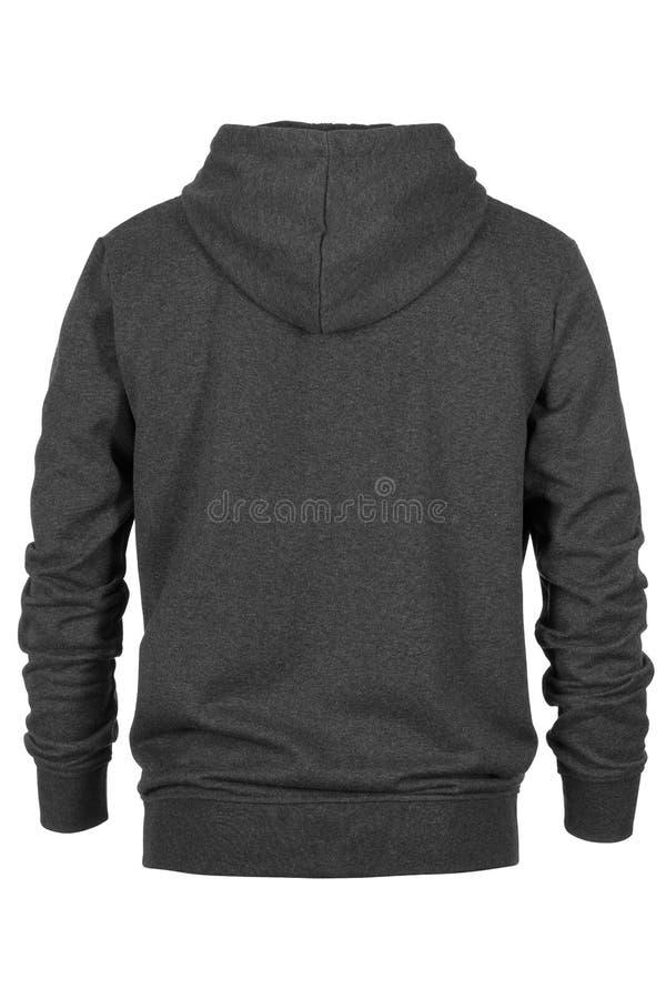Steun van grijs sweatshirt met kap stock foto's