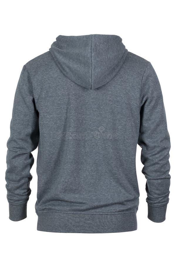 Steun van grijs sweatshirt met kap stock fotografie