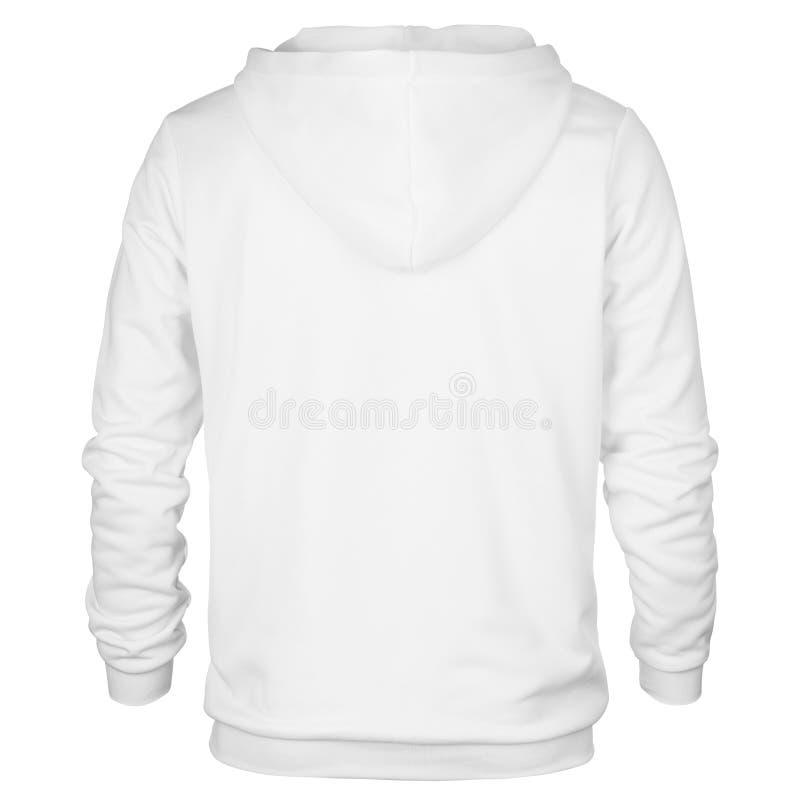 Steun van wit sweatshirt met kap stock afbeeldingen