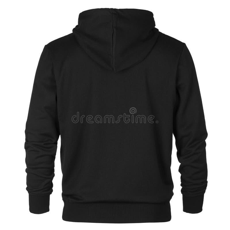 Steun van zwart sweatshirt met kap stock foto's