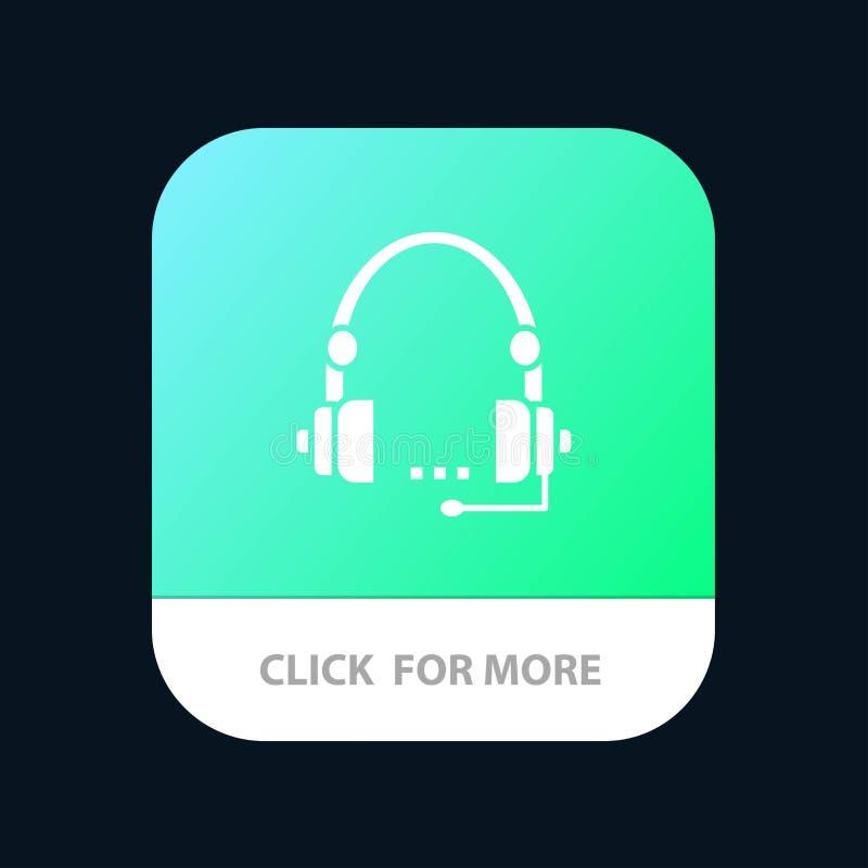 Steun, Vraag, Mededeling, Contact, Hoofdtelefoon, Hulp, de Knoop van de de Dienstmobiele toepassing Android en IOS Glyph Versie royalty-vrije illustratie