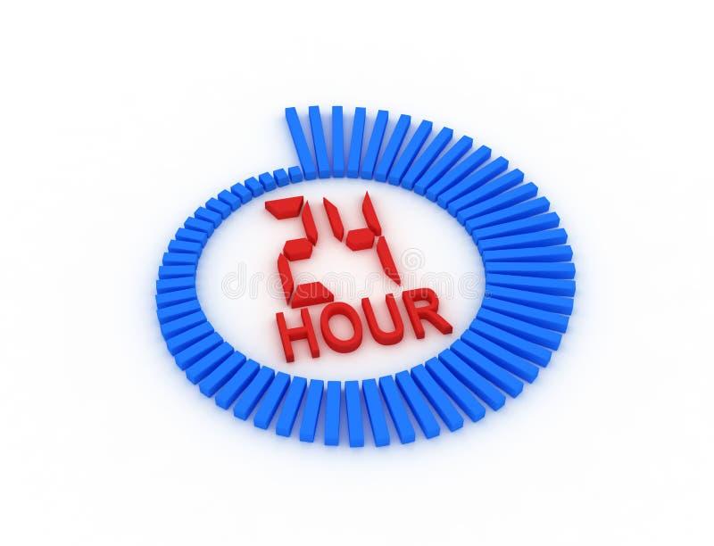 Steun zeven dagen per week 24 uren. vector illustratie