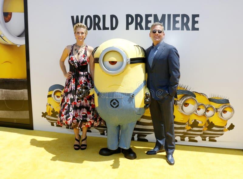 Steve Carell et Kristen Wiig photos libres de droits