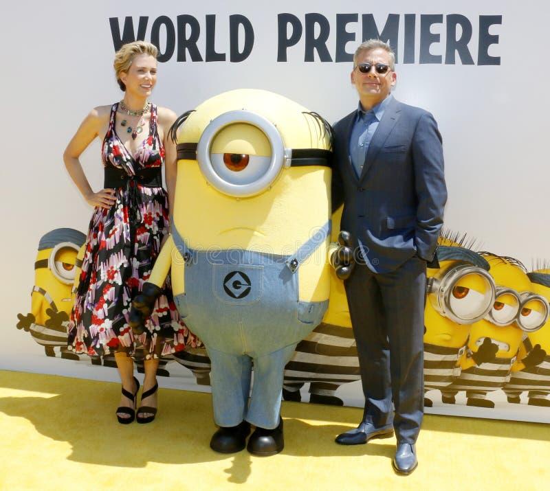 Steve Carell et Kristen Wiig photo stock