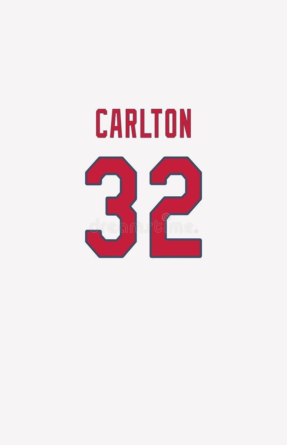 Steve Carlton, πλάτη του Τζέρσεϋ καρδιναλίων του Σαιντ Λούις στοκ φωτογραφία