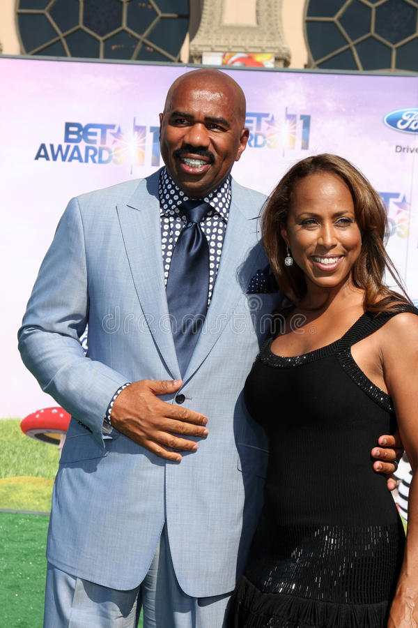 Download Steve Harvey editorial photography. Image of wife, arriving - 23928597