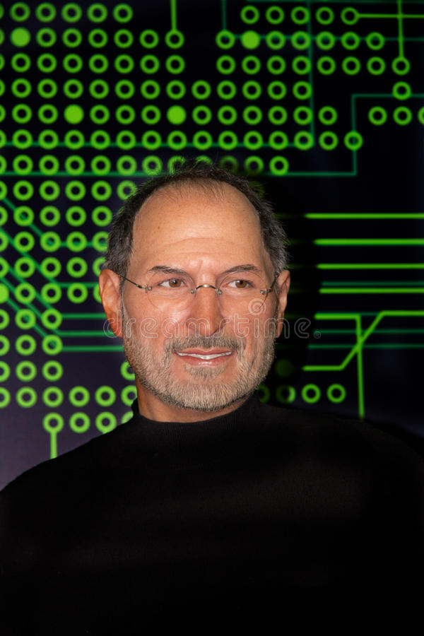 Steve Jobs, American entrepreneur and inventor.Waxwork. royalty free stock image