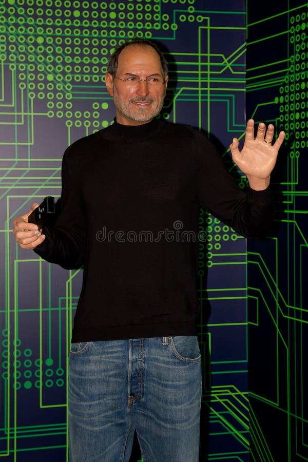 Steve Jobs, amerikanischer Unternehmer und Erfinder waxwork stockbild