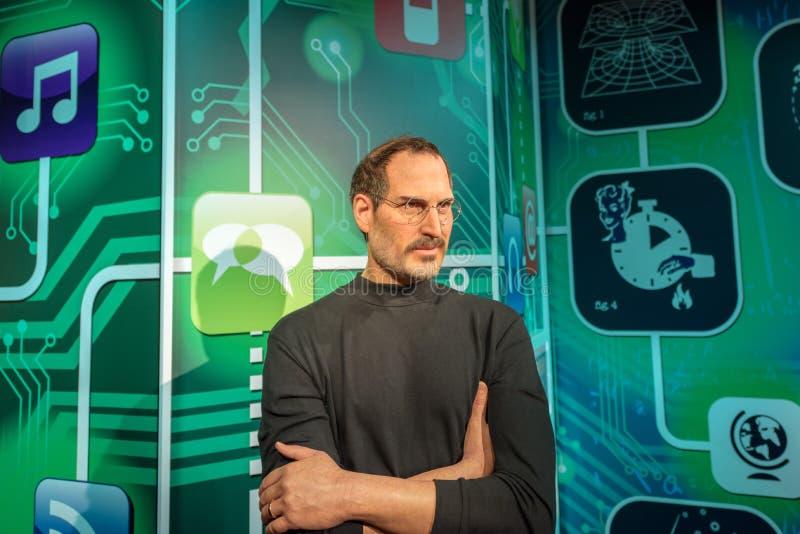 Steve Jobs-cijfer bij Mevrouw Tussauds-wasmuseum in Istanboel stock foto