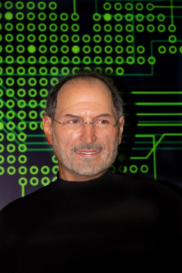 Steve Jobs, empresário americano e inventor waxwork imagem de stock royalty free