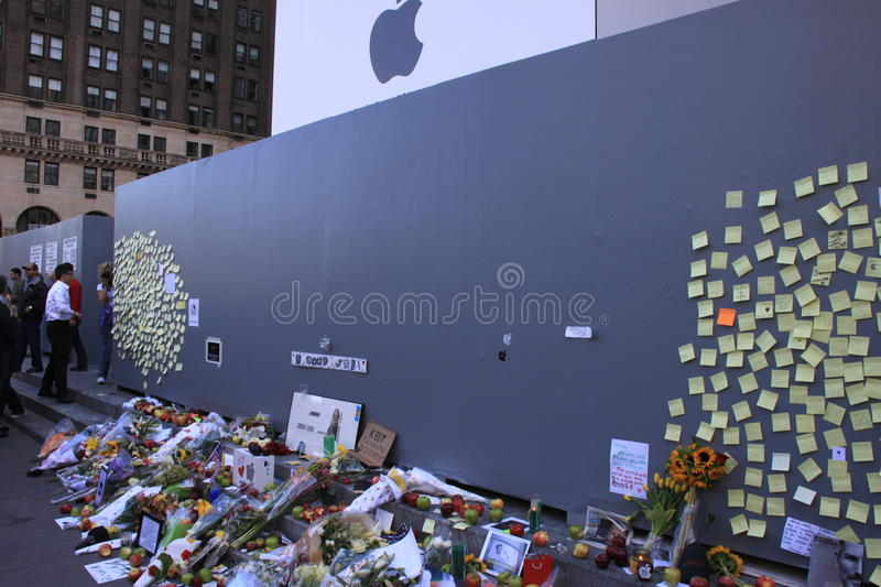 Download Steve Jobs memorial editorial stock image. Image of computer - 21493524