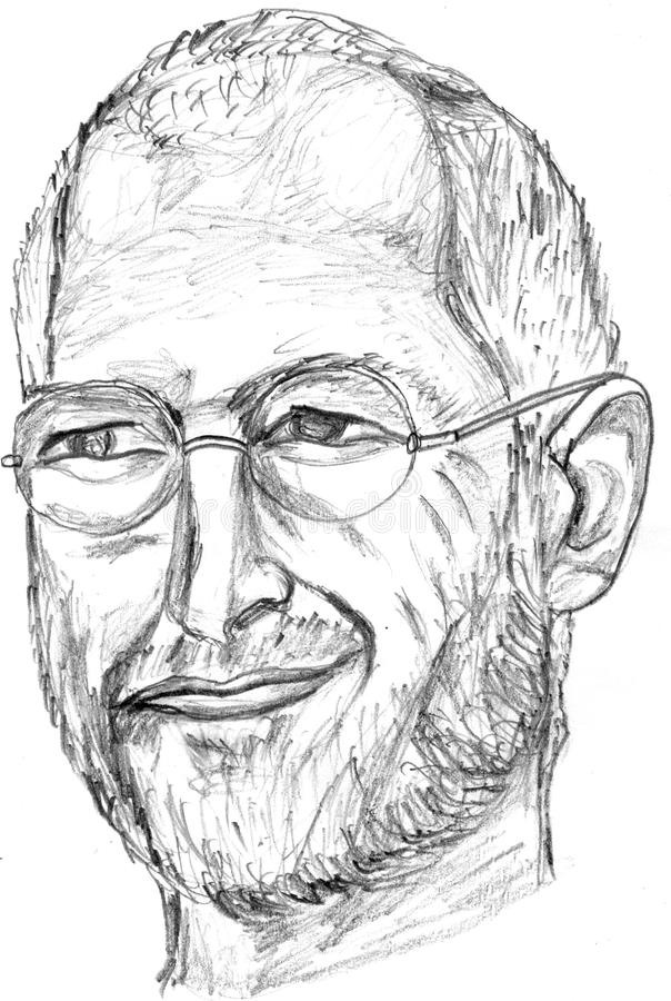 Download steve jobs pencil sketch editorial photography illustration of entrepreneur 21481702
