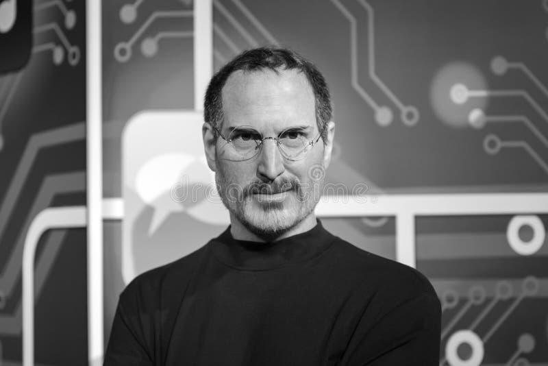 Steve Jobs-wascijfer bij Mevrouw Tussauds-museum in Istanboel stock foto's