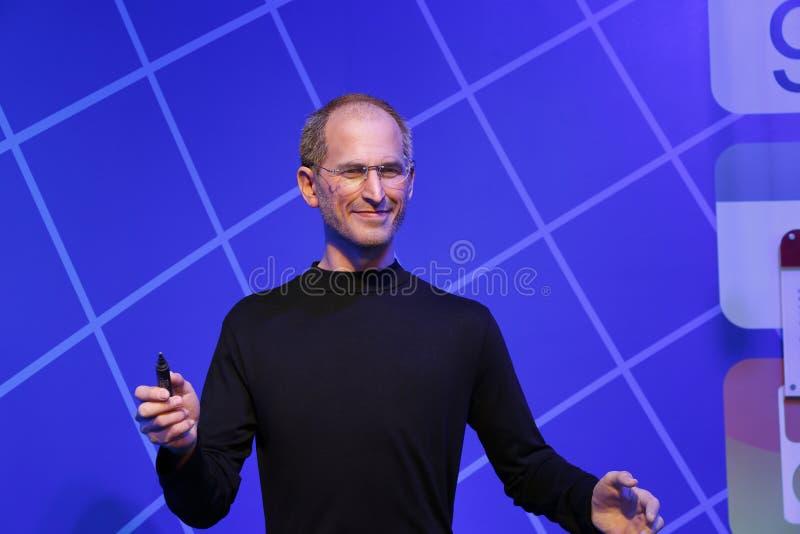 Steve Jobs, wasstandbeeld, wascijfer, waxwork stock afbeeldingen