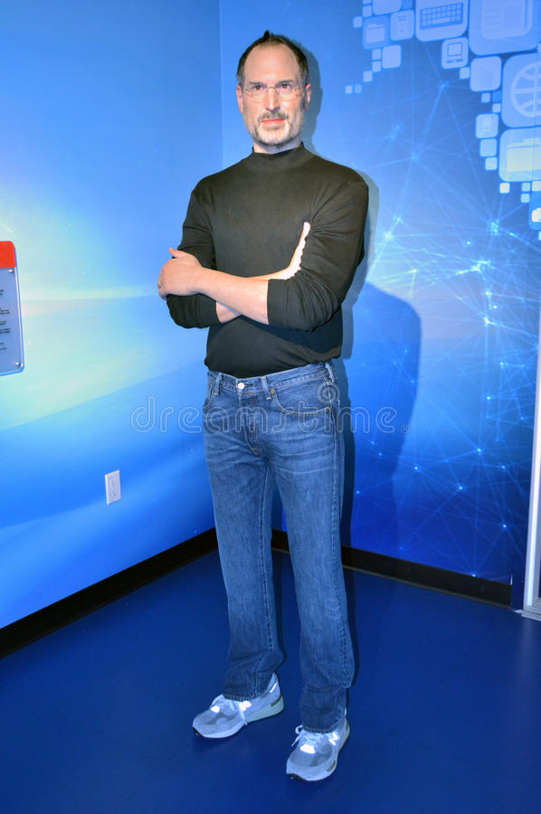 Steve Jobs wax statue at madame tussauds wax meseum, SFO stock images