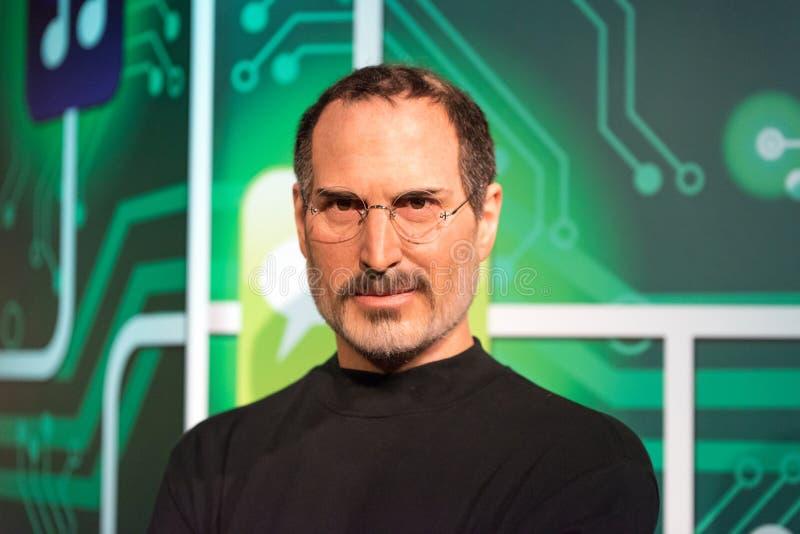 Steve Jobs wosku postać przy Madame Tussauds wosku muzeum w Istanbuł zdjęcie stock