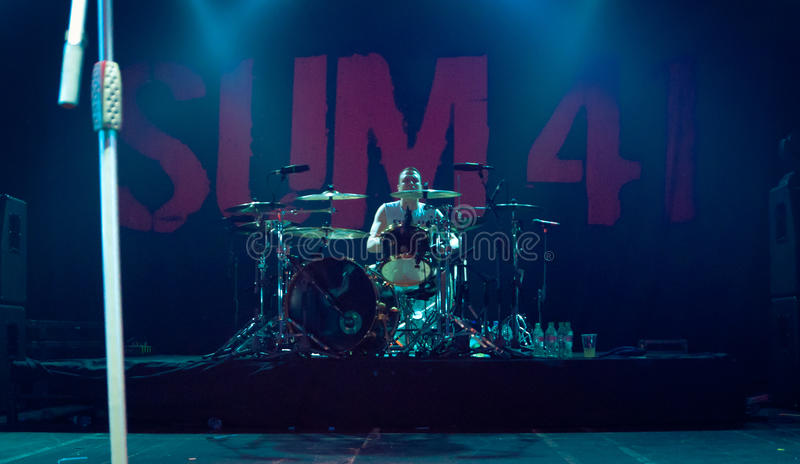 Drummer Steve Jocz royalty free stock photography