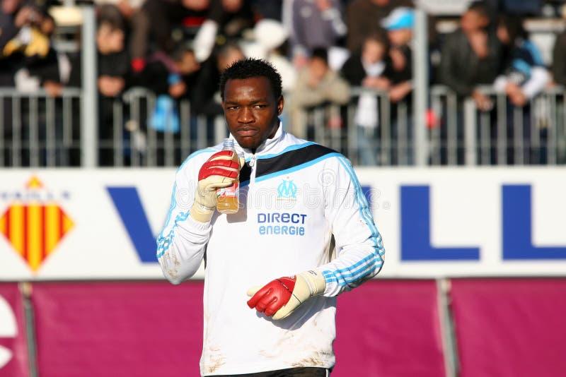 Steve Mandanda von Olympique De Marseille stockfoto