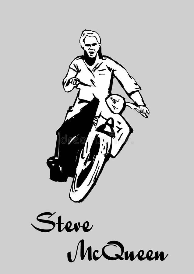 Steve Mcqueen illustration stock
