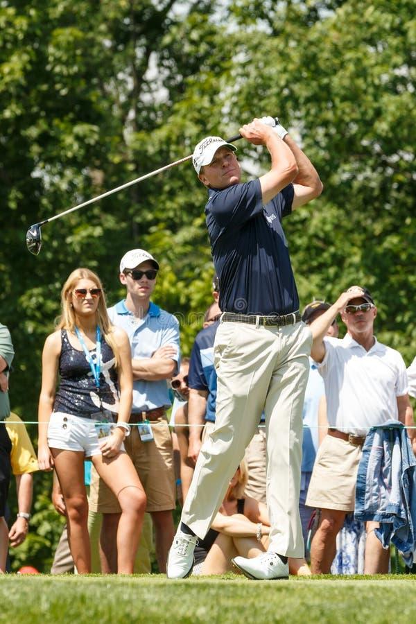 Steve Stricker på den minnes- turneringen royaltyfri foto