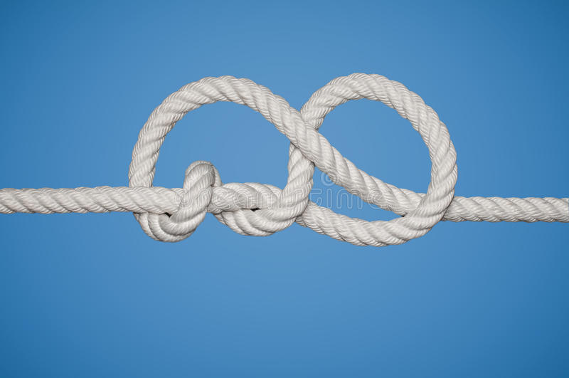Stevedore Knot. The Stevedore Knot is a stopper knot royalty free stock photography