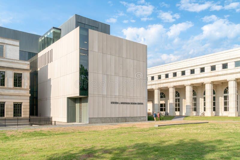 Steven L Anderson Design Center na universidade de Arkansas imagem de stock