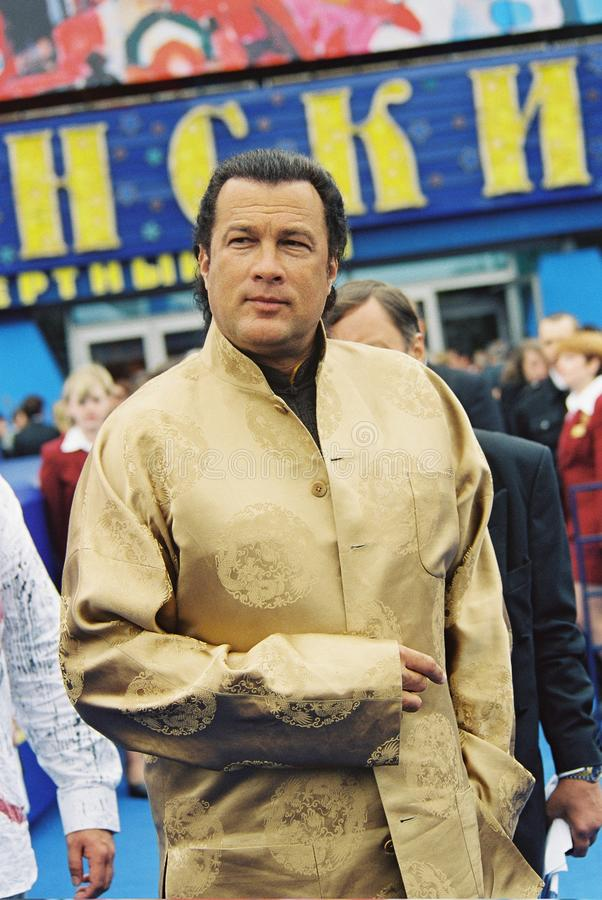 Steven Seagal. MOSCOW - JUNE 29: Steven Seagal arrives for closing ceremony the 25th Moscow International Film Festival on June 29, 2003 in Moscow, Russia stock images