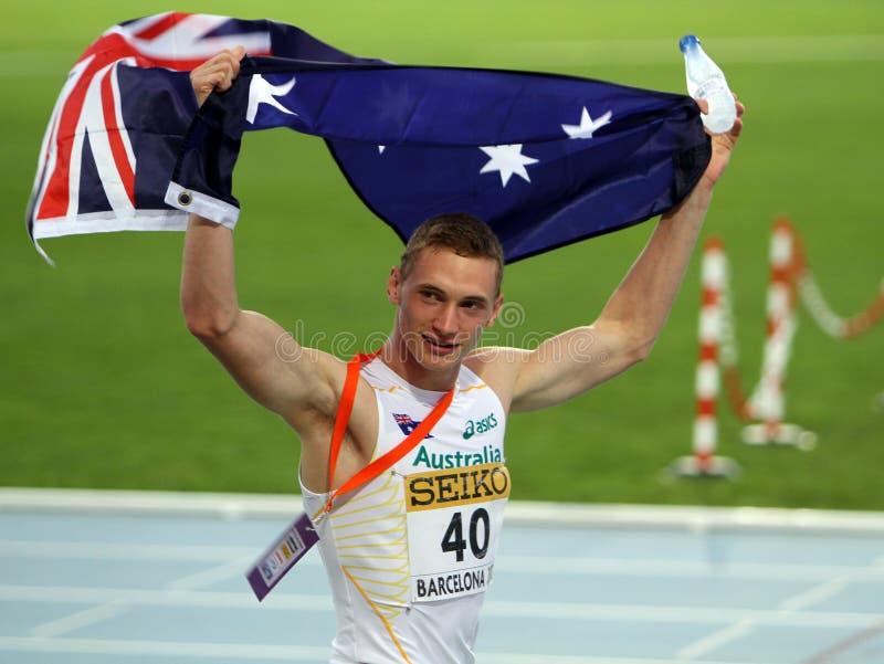 Steven Solomon comemora a medalha de bronze