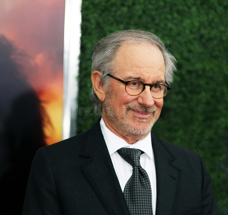 Steven Spielberg. Producer-Director Steven Spielberg arrives on the red carpet at Lincoln Center in New York City for the world premiere screening of War Horse royalty free stock photography