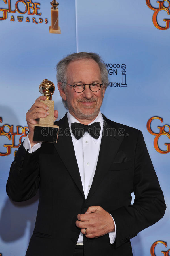 Steven Spielberg. At the 69th Golden Globe Awards at the Beverly Hilton Hotel. January 15, 2012 Beverly Hills, CA Picture: Paul Smith / Featureflash royalty free stock photography