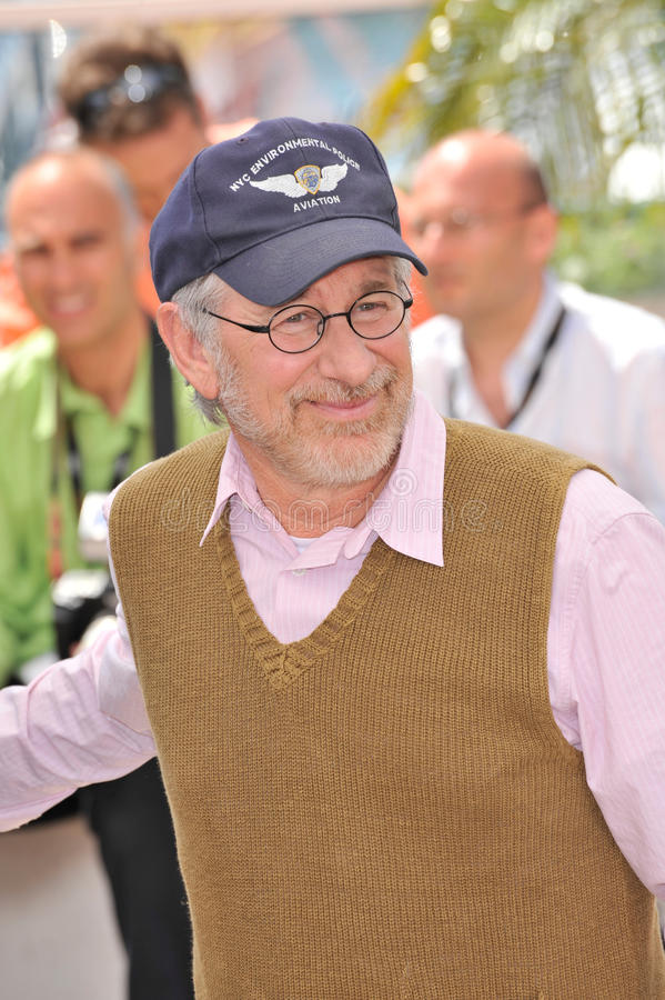 Steven Spielberg. At photocall for his new movie Indiana Jones and the Kingdom of the Crystal Skull at the 61st Annual International Film Festival de Cannes stock images