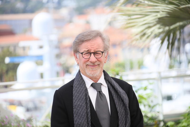 Steven Spielberg. Attends 'The BFG (Le Bon Gros Geant - Le BGG)' photocall during the 69th annual Cannes Film Festival at the Palais des Festivals on May 14 stock image