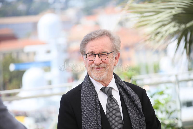 Steven Spielberg. Attends 'The BFG (Le Bon Gros Geant - Le BGG)' photocall during the 69th annual Cannes Film Festival at the Palais des Festivals on May 14 royalty free stock image