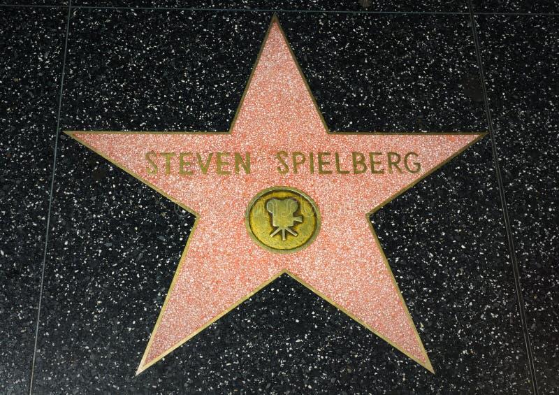 Steven Spielberg gwiazda na Hollywood spacerze sława obrazy royalty free
