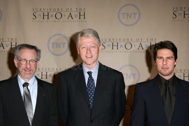 Steven Spielberg, le Président William Jefferson Clinton, Tom Cruise, William Jefferson, William Jefferson Clinton image libre de droits