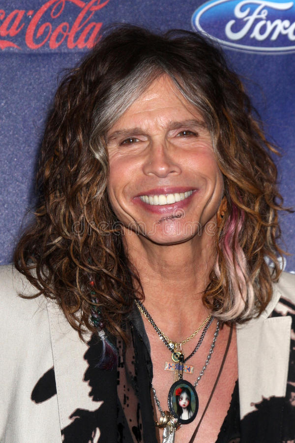 Steven Tyler. LOS ANGELES - MAR 1: Steven Tyler arrives at the American Idol Season 11 Top 13 Party at the The Grove Parking Structure Rooftop on March 1, 2012 royalty free stock images