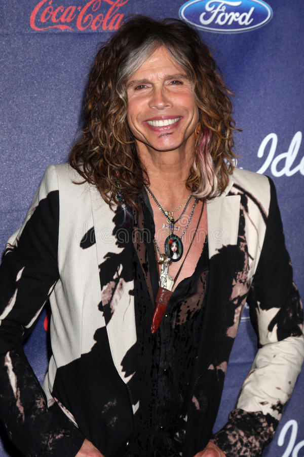 Steven Tyler. LOS ANGELES - MAR 1: Steven Tyler arrives at the American Idol Season 11 Top 13 Party at the The Grove Parking Structure Rooftop on March 1, 2012 stock photo