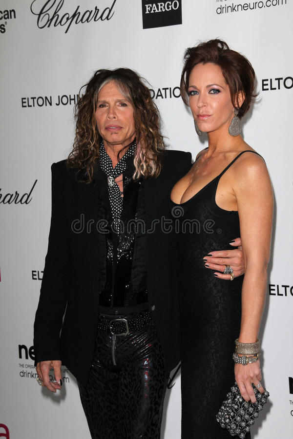 Steven Tyler, Elton John stock photos