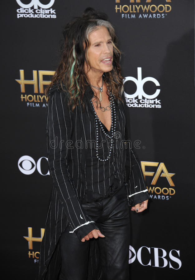 Steven Tyler. LOS ANGELES, CA - NOVEMBER 14, 2014: Steven Tyler at the 2014 Hollywood Film Awards at the Hollywood Palladium stock image
