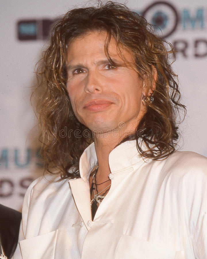 Steven Tyler at the MTV Music Awards. Steven Tyler of the Rock band Aerosmith together at the MTV Music awards in 1998. (Image taken from color slide stock photography
