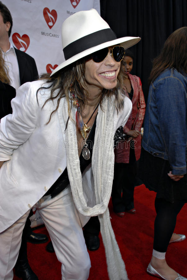 Steven Tyler on the red carpet royalty free stock image