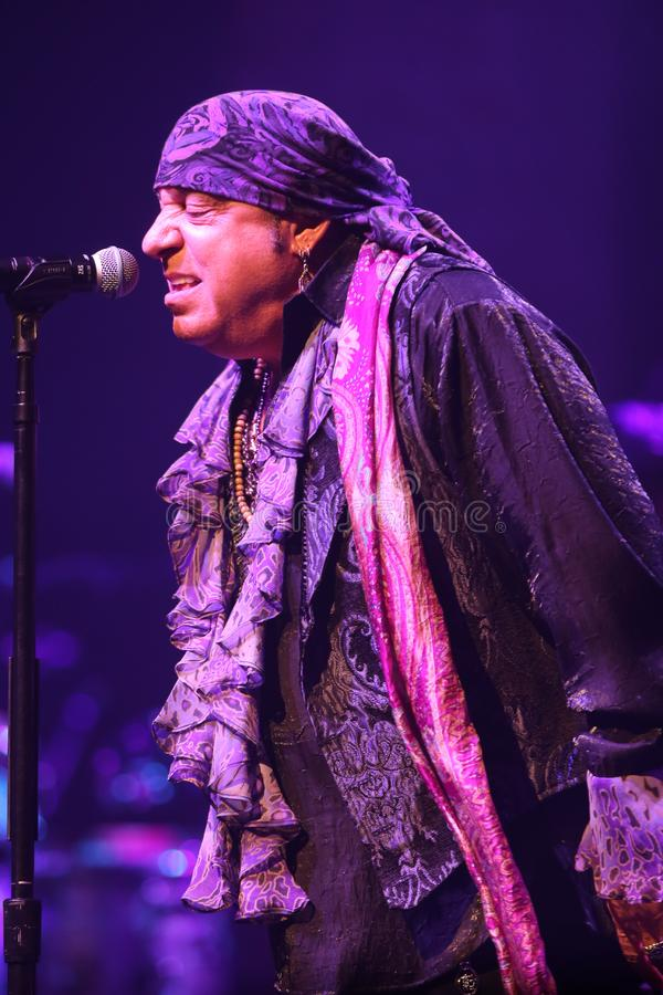 Steven Van Zandt. HUNTINGTON, NY - JUL 18: Steven Van Zandt of Little Steven and the Disciples of Soul perform in concert on July 18, 2019 at the Paramount in royalty free stock photos