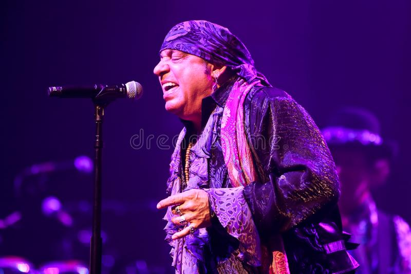 Steven Van Zandt. HUNTINGTON, NY - JUL 18: Steven Van Zandt of Little Steven and the Disciples of Soul perform in concert on July 18, 2019 at the Paramount in stock images